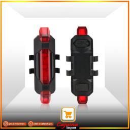 Farol Traseiro para Bicicleta Luz de Led USB Recarregável m3sd3sd21