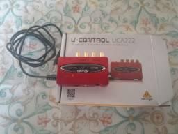 Vendo placa de áudio Behringer UCA 222