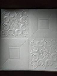 Título do anúncio: 30 placas 3d 35x35 autocolante e lavável novinha