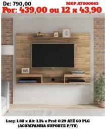 Painel de televisão até 60 Plg- Painel de TV- Painel Sala de Estar-Saldão em MS