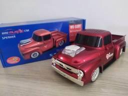 Título do anúncio: Caixa de som Camionete Vermelha - Bluetooth P2 Pendrive Cartão Sd Rádio