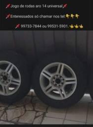 Jogo de rodas com pneu aro 14 universal
