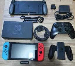 Título do anúncio: Nintendo Switch 32gb (+256gb) Desbloqueado + Brindes