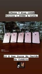 iPhone 7 Plus 128gb Vitrine Com Garantia e Brindes