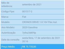 Título do anúncio: Cronos 1.8 + Gnv
