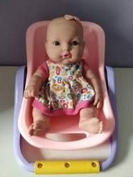 Título do anúncio: Boneca bebê vai com bebê conforto