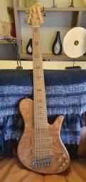 Sj Ágape 6 Cordas Com Case Original (ñ Fender, Fodera, Yamaha)