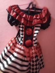 Vestido infantil fantasia Arlequina