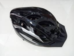 Capacete Ciclismo Preto Novo