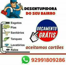 Desentupidora em serviço em todas Manaus