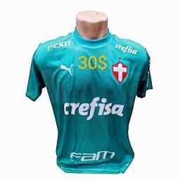 Kit 3 camisas Palmeiras tamanhos g novas por 90$tds