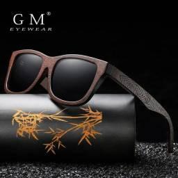 Título do anúncio: Óculos AMADEIRADO GM POLARIZADOS ORIGINAIS NOVOS