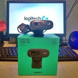 Webcam Logitech C270 ( Uma das melhores marcas de webcam do mercado)
