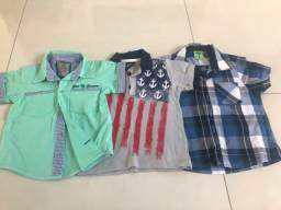 Título do anúncio: Camisas infantis - 1 ano