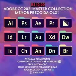 Adobe CC 2021 Master Collection Permanente macOS e Windows R$10!
