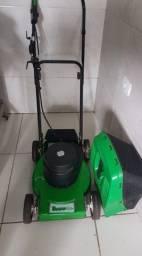 Maquina de cortar grama Trapp (usada) +carinho de mão