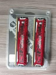 Kit de memória RAM ddr4 2400 mhz (2x4gb)8gb semi nova