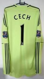 Chelsea Camisa Goleiro 2010/2011 Cech #1 - techfit, preparada pra jogo.