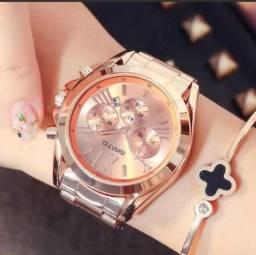 e834ce2368c Relogio Feminino Gimto Rosê gold Marca de luxo a prova d agua