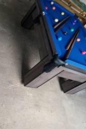 Mesa com 4 Pés Cor Dakar Tecido Azul Mod. HLWI2424