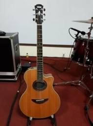 Violão Yamaha Apx 700II Aço Parcelo até 12x cartao de credito violão semi novo
