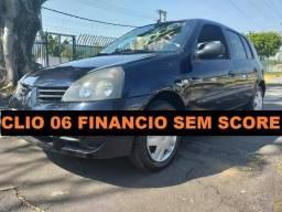 Renault clio hatch 2006 financio sem score baixa entrada