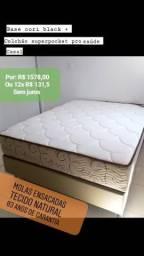 Base + colchão superpocket pro saúde