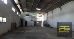 Galpão para alugar na av. liberdade, 500 m² por r$ 2.900/mês - bayeux - possui escritório,