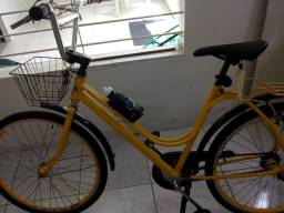 Bicicleta Monark -amarela conservada