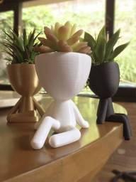 Vasinhos com suculentas impressão 3D