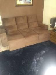 Sofa retratil semi-novo marrom