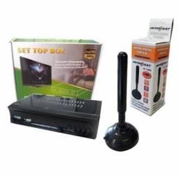 Conversor Digital Para Tv e Antena Interna c/imã