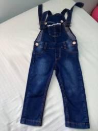 Macacão jeans de menina tam.3