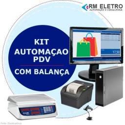 Computador completo com balança para hortifruti não fiscal e fiscal PDV
