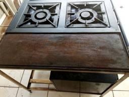 Fogão industrial 4 bocas com chapa e forno