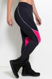 Calça legging 3 cores cintura alta