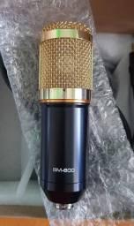 Microfone condensador BM 800 ( Com shock Mount de Metal )