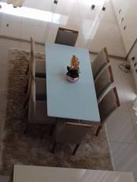 Mesa DELLY 8 cadeiras de madeira maciça
