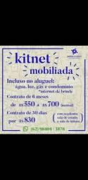 Aluga-se kitnet mobiliada, somente para uma pessoa.     E