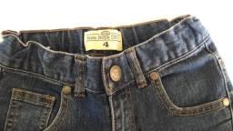 Calça jeans infantil masculina tamanho 4 - marca C&A - usada mas bem novinha