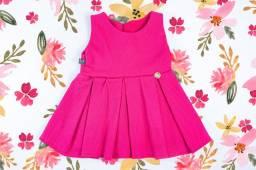 Vestido rosa para recém-nascido