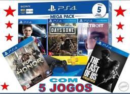 Playstation 4 (Na Caixa ) c/ 5 Jogos Grátis