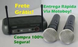 Kit Microfone Profissional UHF com 2 Bastões (PGX-51) Sem Fio! Frete Grátis!