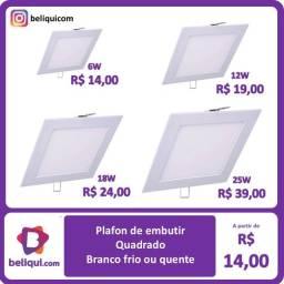 Título do anúncio: Luminária Plafon LED | Quadrado - Embutir - Branco Frio | Várias Potências