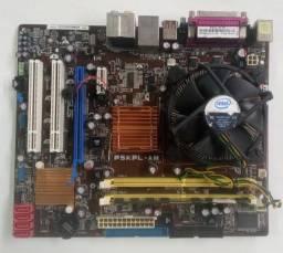 Kit placa mae Asus DDR2 Modelo p5kpl-am