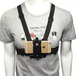 Suporte Peitoral Para Celular e Câmeras de Ação