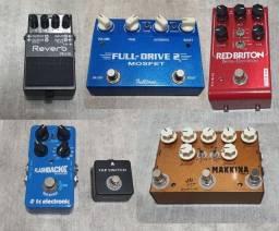 Pedais de Guitarra Overdrive Delay Distorção Reverb