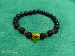Tigre  em pedra semi preciosa nova original (pulseira)