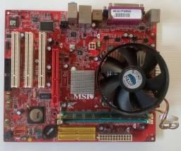 Kit placa mae DDR1 Msi pm8m3-v