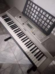 Teclado Yamaha psr e303+pedal+suporte+fonte